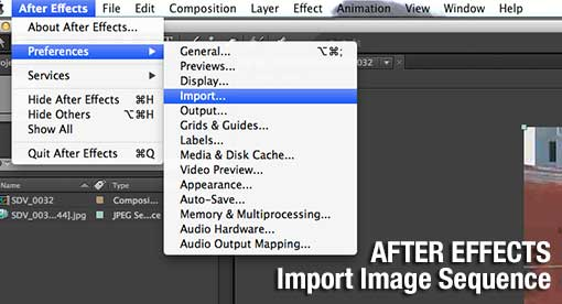 After Effects: Import Image Sequence