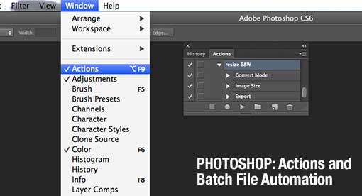 Photoshop CS6: Actions and Batch Automation